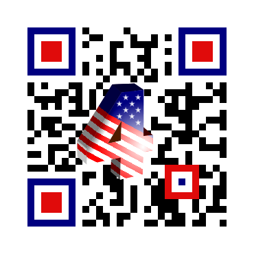 4th July Custom QR Code