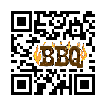 Custom QR Code: Barbeque