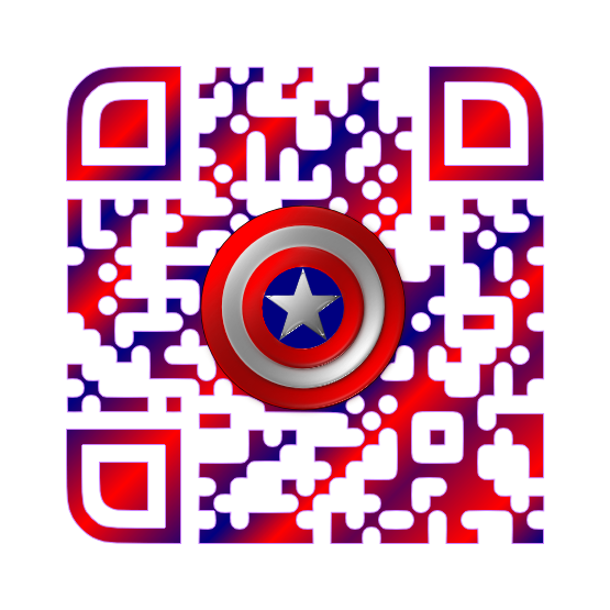 Captain America Custom QR Code