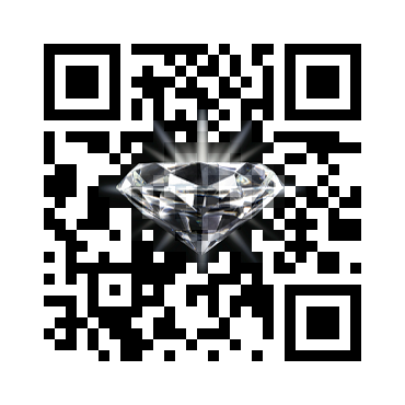 Custom QR Code: Diamond