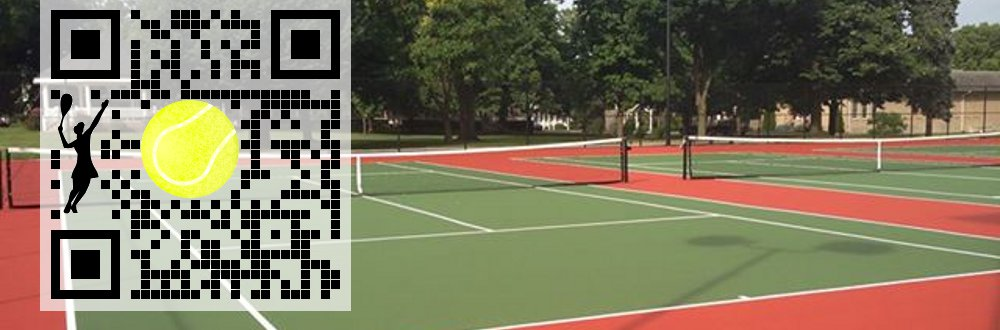 Custom QR Code: Tennis court