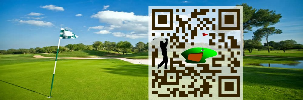 Custom QR Code: Golf course
